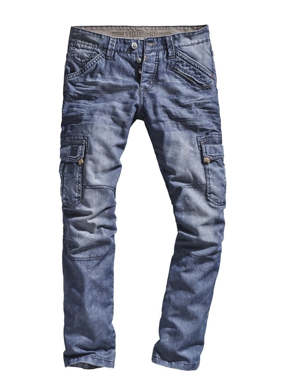timezone herren cargo jeans benitotz loose fit blau. Black Bedroom Furniture Sets. Home Design Ideas