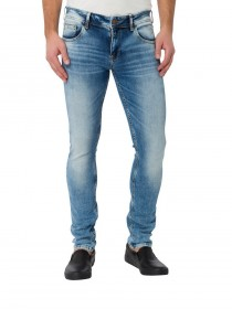 Cross Herren Jeans Toby Skinny Fit - Blau - Blue Shadow Light Used
