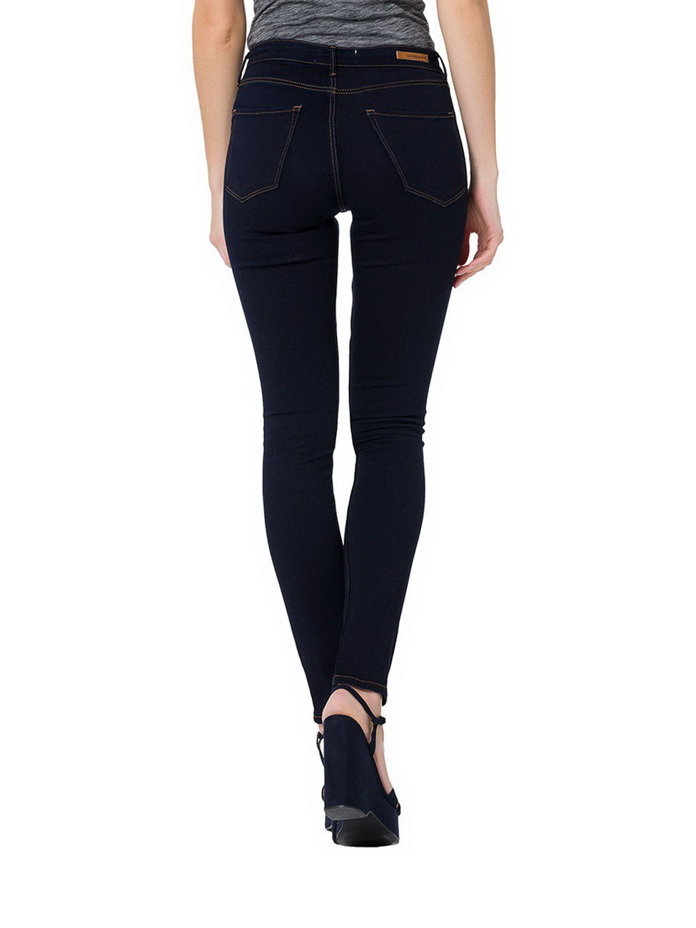 Cross Damen Jeans Natalia Slim Fit - Blau - Rinsed
