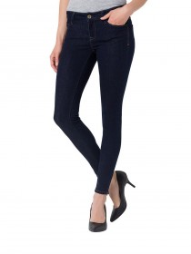 Cross 7/8 Damen Jeans Giselle Skinny Fit - Blau - Rinsed