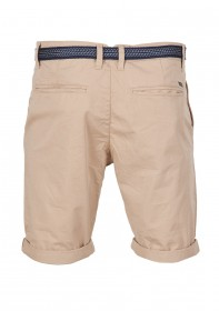 Tom Tailor Denim Herren Chino Bermuda Light Twill - Old Black - Smoked Beige