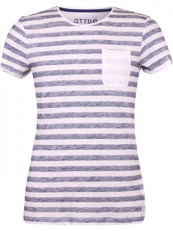 Tom Tailor Denim Herren T-Shirt Pigment Printed Stripe