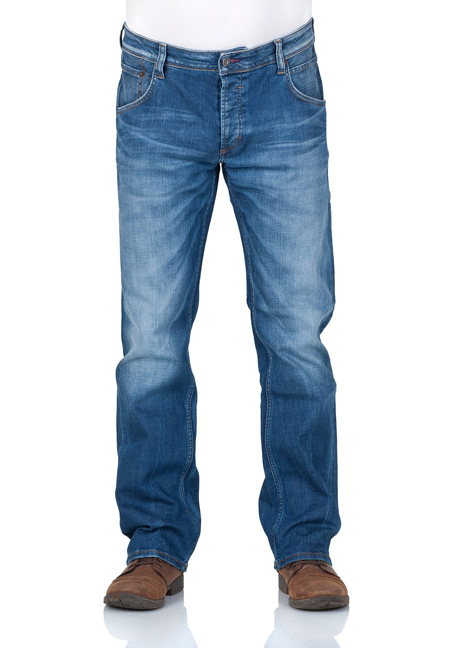 Mustang Herren Jeans Michigan Straight - Blau - Light Scratched Used W 38 L 34, Light Scratched Used (583)