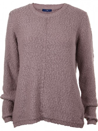 Tom Tailor Damen Pullover Cotton Slub Sweater
