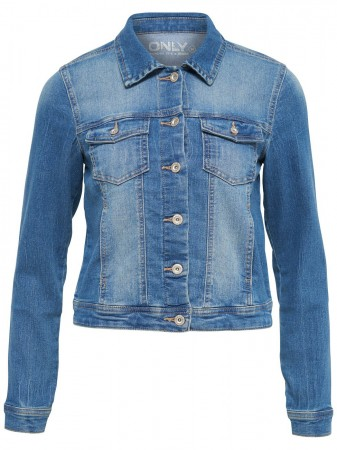 Only Damen Jeansjacke onlNEW - Medium Blue Denim