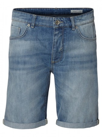 Selected Herren Jeans Shorts SHNALEX 1029 - Blau - Light Blue Denim