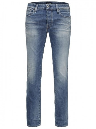 Jack & Jones Herren Jeans JJICLARK JJICON BL 597 - Regular Fit - Blau - Blue Denim