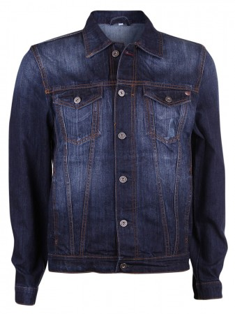 Mustang Herren Jeansjacke Manhattan - Slim Fit - Dark Scratched Used