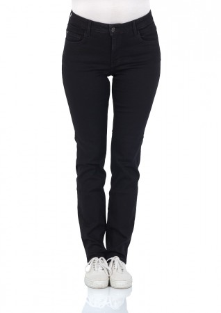 Mustang Damen Jeans Soft & Perfect - Slim Fit - Midnight Black