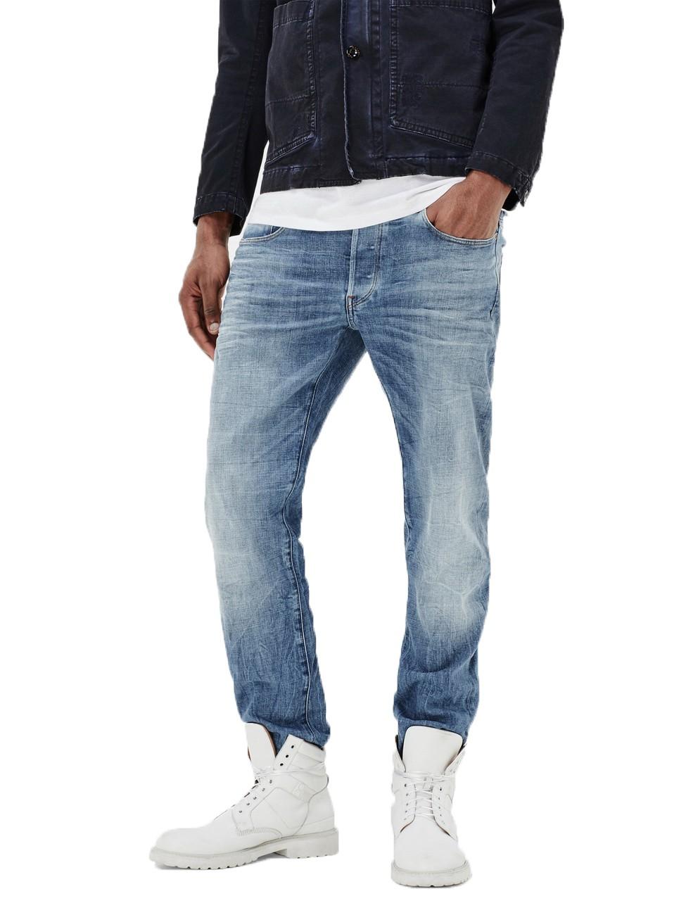 g star jeans 3301 herren straight jeans light aged ebay. Black Bedroom Furniture Sets. Home Design Ideas