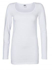 Vero Moda Damen Langarm Shirt MAXI MY LS LONG U-NECK