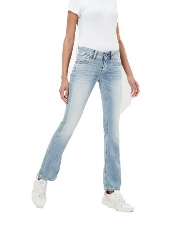 G-Star Damen Jeans Midge Saddle Straight Fit - Light Aged