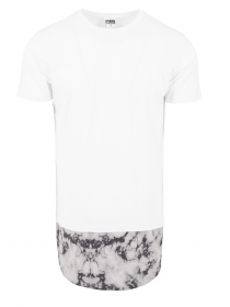 Urban Classics Herren Long Shaped Marble T-Shirt