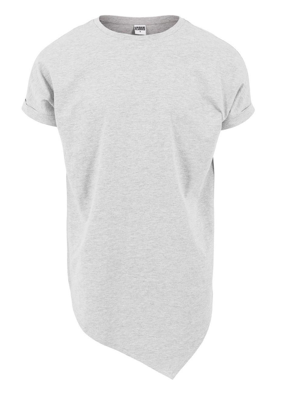 Urban Classics Herren Asymetric Long T-Shirt XXL, Grey (00111)