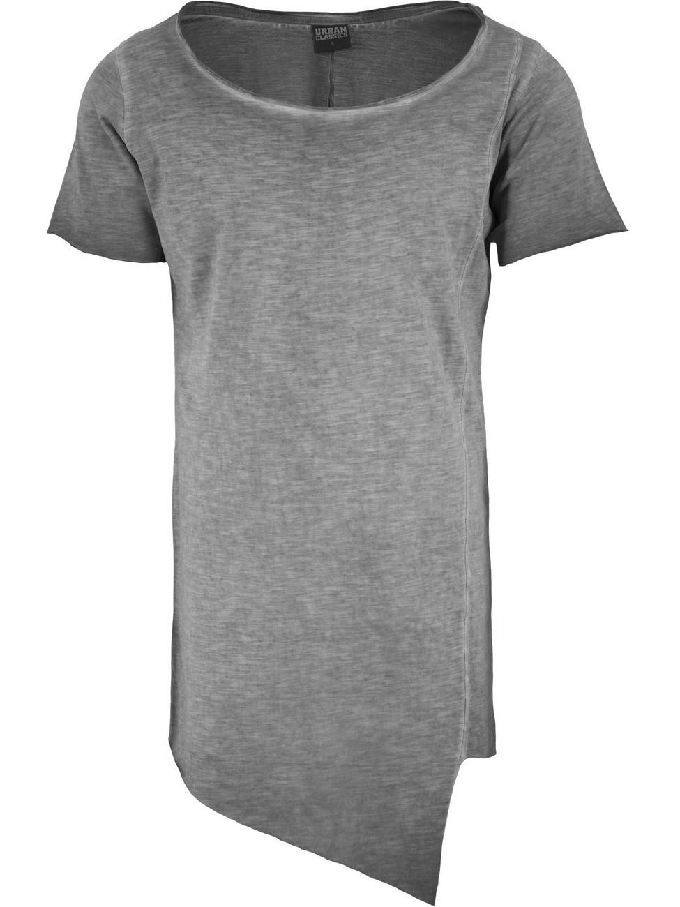 Urban Classics Herren Asymetric Long Spray Dye T-Shirt