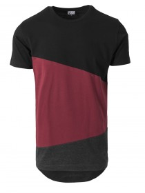 Urban Classics Herren Long Shaped Zig Zag T-Shirt