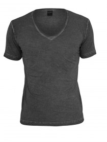 Bild 1 - Urban Classics Herren Spray Dye V-Neck T-Shirt