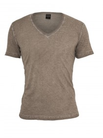 Bild 7 - Urban Classics Herren Spray Dye V-Neck T-Shirt