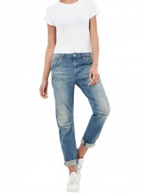 G-Star Damen Jeans 5620 Elwood 3D Low - Boyfriend - Light Aged