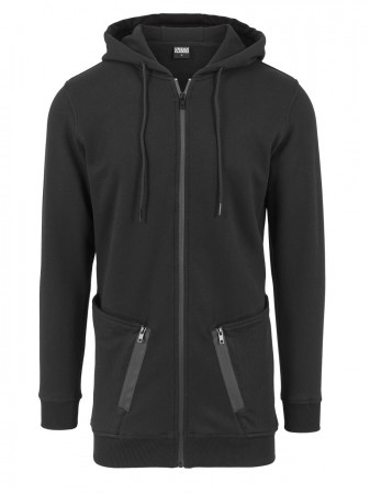 Urban Classics Herren Sweatjacket Long Peached Tech Zip Hoody