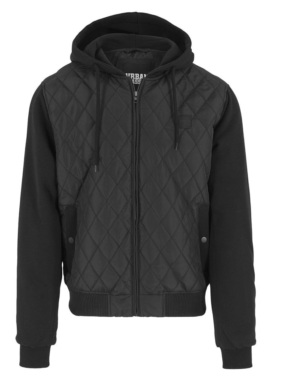 Urban Classics Herren Hooded Diamond Quilt Nylon Jacket