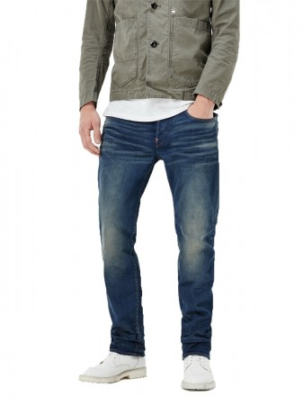 G-Star Herren Jeans Revend Straight Fit - Blau - Medium Aged