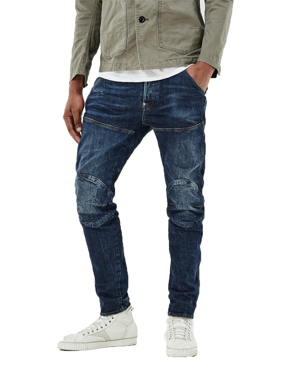 g star herren jeans 5620 elwood 3d slim fit blau vintage dark aged ebay. Black Bedroom Furniture Sets. Home Design Ideas