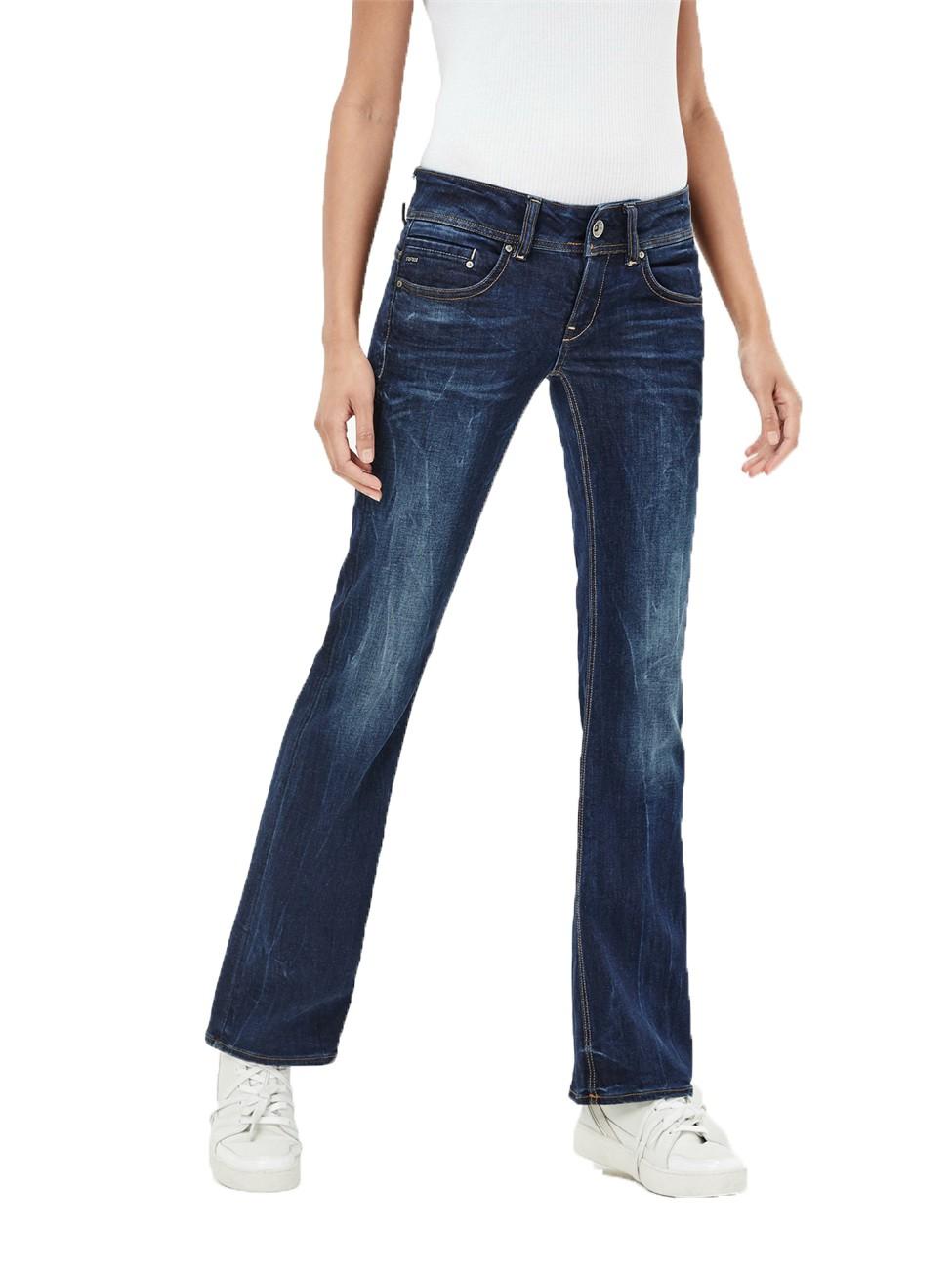g star damen jeans midge saddle bootleg blau dark aged. Black Bedroom Furniture Sets. Home Design Ideas