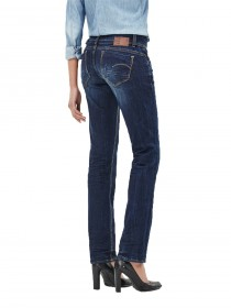 Bild 2 - G-Star Damen Jeans Midge Saddle Straight Fit - Blau - Dark Aged