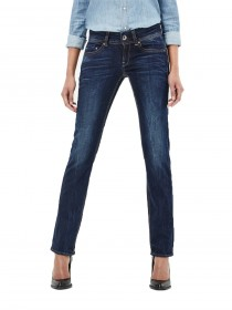 Bild 1 - G-Star Damen Jeans Midge Saddle Straight Fit - Blau - Dark Aged