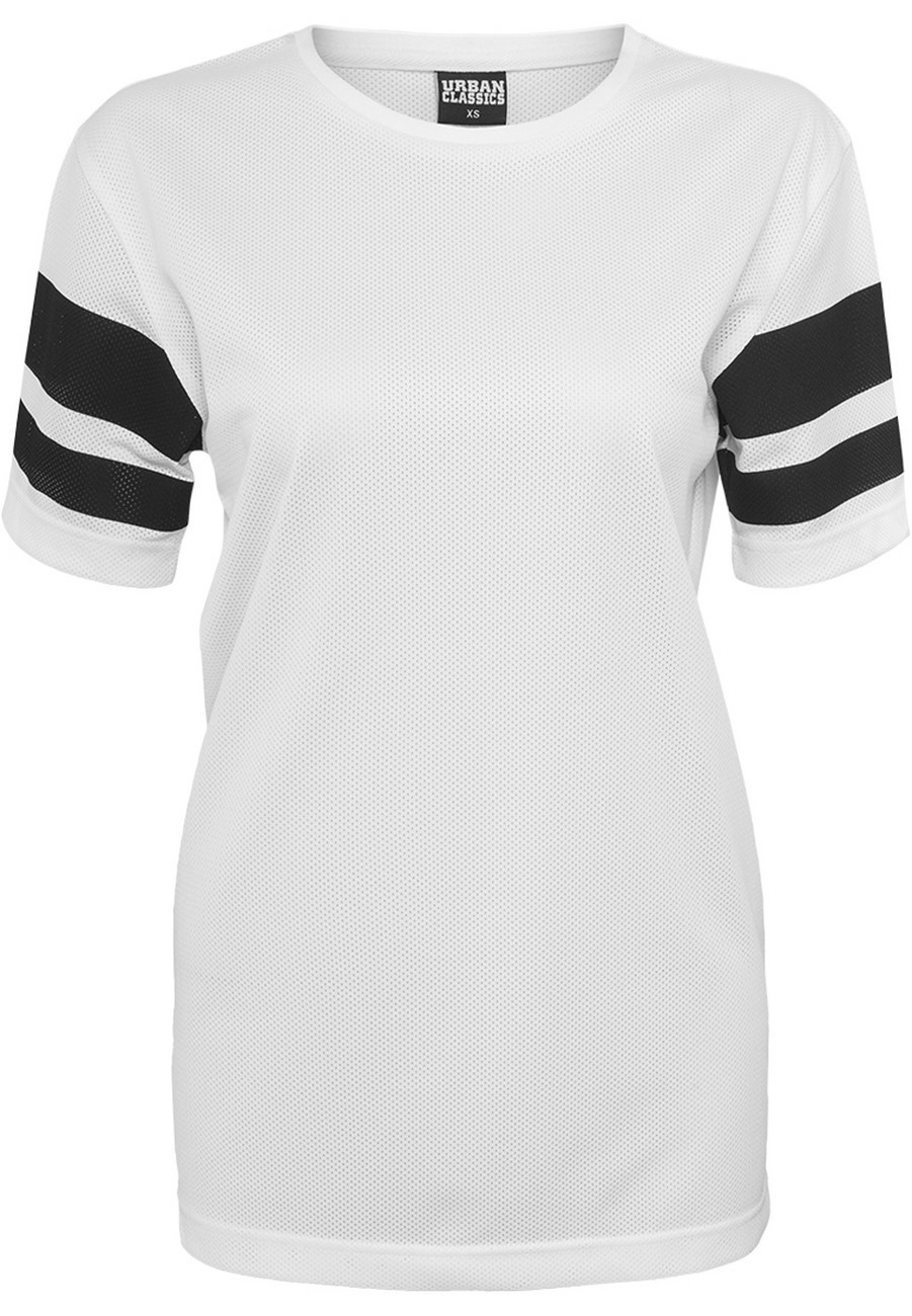 Urban Classics Ladies Stripe Mesh Tee