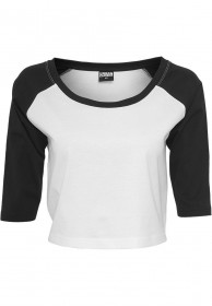 Urban Classics Ladies Cropped 3/4 Raglan Shirt