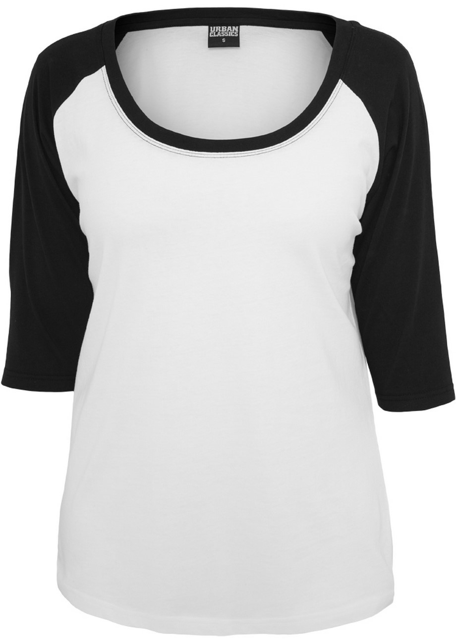 Urban Classics Ladies 3/4 Contrast Raglan Shirt
