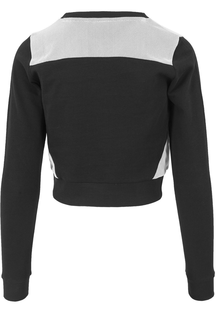 Urban Classics Ladies Sweater Cropped Mesh Terry Crew