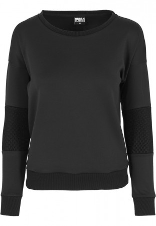 Urban Classics Ladies Sweater Scuba Mesh Crew