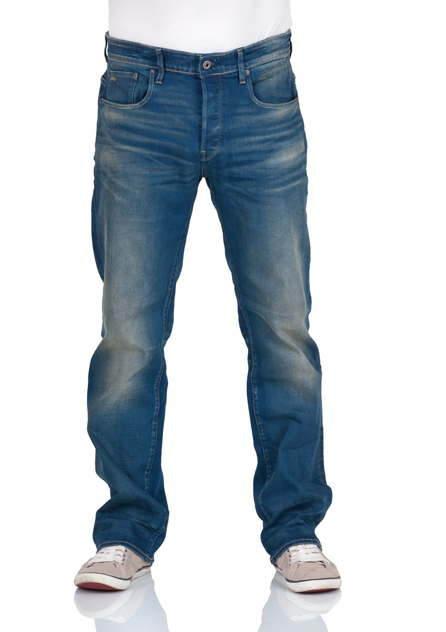 g star herren jeans 3301 loose fit blau medium aged ebay. Black Bedroom Furniture Sets. Home Design Ideas