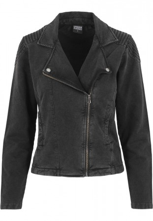 Urban Classics Ladies Acid Wash Terry Biker Jacket
