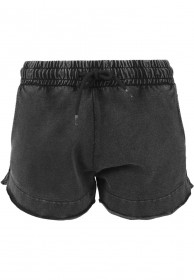 Urban Classics Ladies Acid Wash Terry Hotpants
