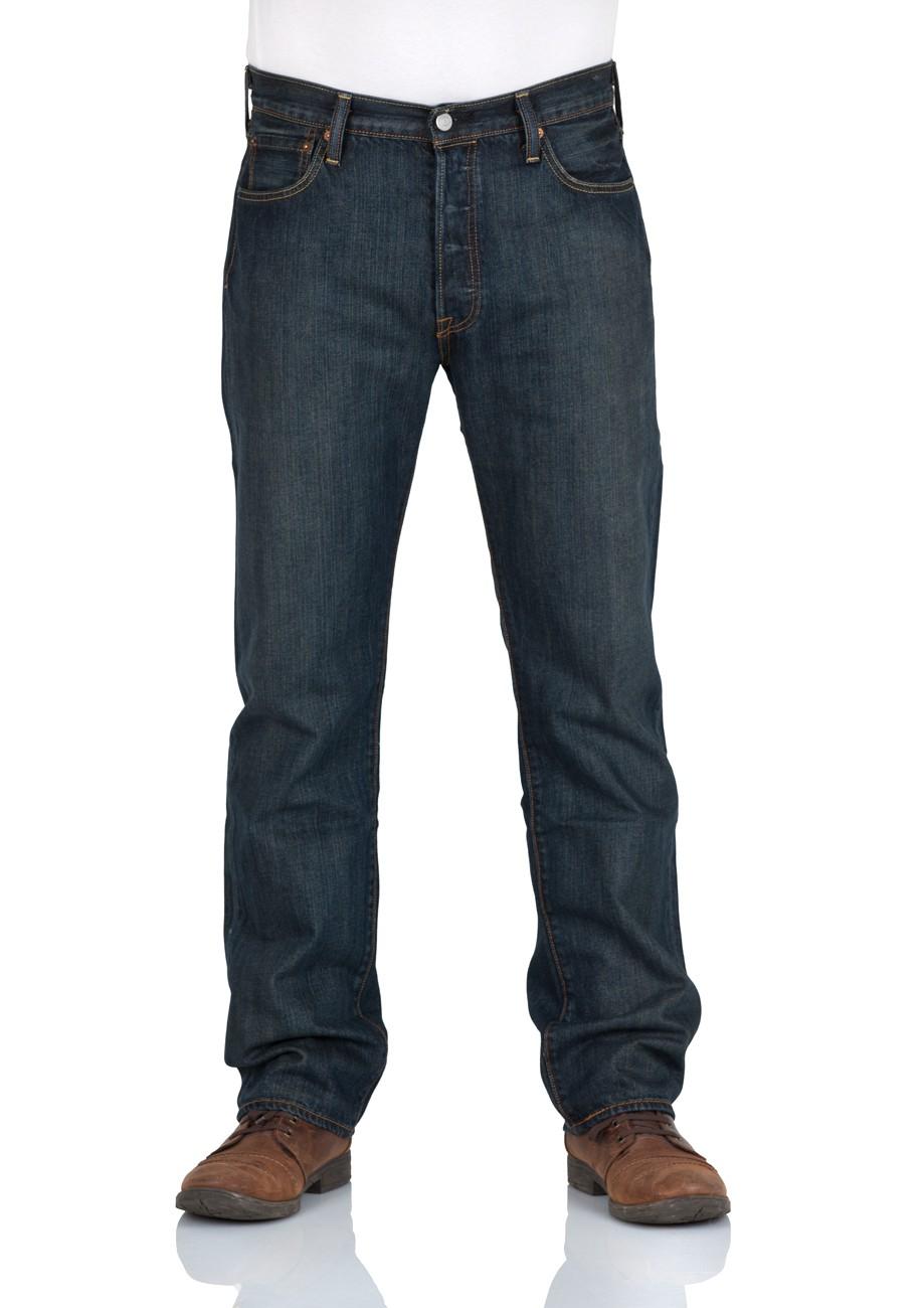 Levi´s® Herren Jeans 501® Original Fit - Blau - Dark Clean W 32 L 36, Dark Clean (0089)