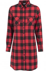 Urban Classics Ladies Checked Flanell Shirt Damen Kleid