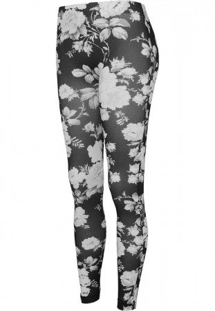 Urban Classics Ladies Flower Damen Leggings - Schwarz