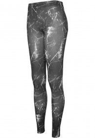 Urban Classics Ladies Ladies Sprinkled Damen Leggings - Schwarz/Weiß