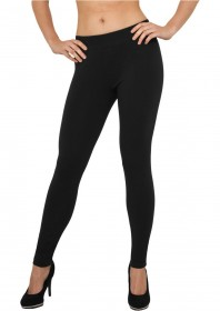 Urban Classics Ladies Denim Look Damen Leggings - Schwarz