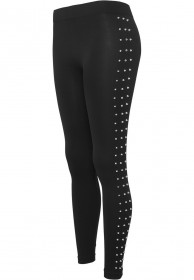 Bild 1 - Urban Classics Ladies Side Rivets Damen Leggings - Schwarz