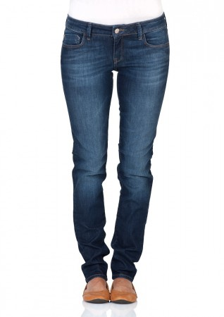 Mavi Damen Jeans Lindy - Skinny Fit - Blau - Dark Stretch Used