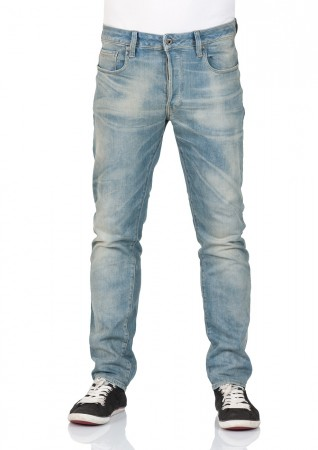 G-Star Herren Jeans 3301 Slim Fit - Blau - Medium Aged
