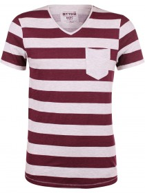 Tom Tailor Denim Herren T-Shirt Striped Melange