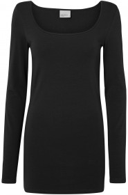 Bild 1 - Vero Moda Damen T-Shirt VMMAXI MY LS SOFT LONG U-NECK