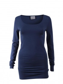 Bild 5 - Vero Moda Damen T-Shirt VMMAXI MY LS SOFT LONG U-NECK