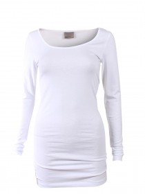 Bild 6 - Vero Moda Damen T-Shirt VMMAXI MY LS SOFT LONG U-NECK